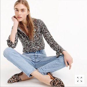 J.Crew The Perfect Shirt Animal Cheetah Print